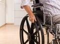 Senior Woman Sitting In Wheelc...