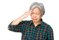 Senior woman suffer from headache Royalty Free Stock Photo