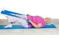 Senior woman with vitality exercising