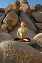 Senior Woman In Yoga Meditation  Stock Image