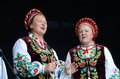 Senior women singing traditional ukrainian song at Day of Kiev holiday Royalty Free Stock Photo