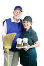 Seniors Back at Work Royalty Free Stock Photo