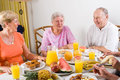 Seniors breakfast Stock Photo