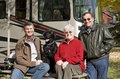 Seniors Camping Royalty Free Stock Images