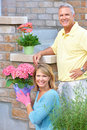 Seniors gardening Royalty Free Stock Photo