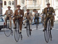 Seniors old cycles,cycling through history event