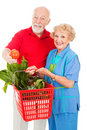 Seniors with Organic Produce Royalty Free Stock Photo