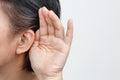 Anziani donna udito perdita  duro di udito