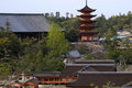 Senjokaku temple miyajima japan from a hill in Royalty Free Stock Photo