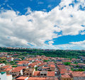 Sennori under clouds a dramatic cloudy sky Royalty Free Stock Photo