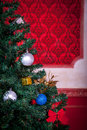 Sensasional vintage christmas interior studio shot Royalty Free Stock Image