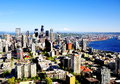 Sensational seattle skyline buildings in washington Royalty Free Stock Images