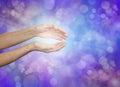 Sensing subtle healing energy Royalty Free Stock Photo