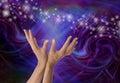 Sensing Supernatural Electromagnetism Royalty Free Stock Photo