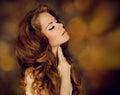 Sensual brunette woman. Beauty