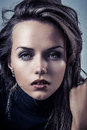 Sensual glamour portrait of a beautiful female woman lady Royalty Free Stock Photography