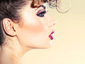 Sensual lady with marvelous profile woman Stock Photo