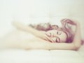 Sensual woman in bed Royalty Free Stock Photo