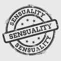 Sensuality Rubber Stamp Isolated On White.