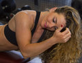 Sensuous in the Gym Royalty Free Stock Photo