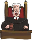 Sentencing judge gavel his hand Stock Photo