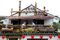 Sentiment tea house a couple drinking the in a inside ancient town of xitang jiashan county jiaxing city zhejiang province Royalty Free Stock Photos