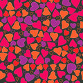 Sentimental seamless with red hearts Royalty Free Stock Image