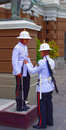 Sentinel and diluting officer grand palace bangkok thailand thai king s guard of honor near the king Stock Image