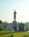 Sentinel of freedom statue manila philippines april the the lapu lapu in luneta park metro manila philippines Royalty Free Stock Images