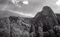 Sentinel rock is a granite peak in yosemite national park Royalty Free Stock Photography