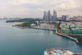 Sentosa island in bird eye view Royalty Free Stock Photo
