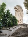 Merlion Statue on Sentosa Island, Singapore Royalty Free Stock Photo