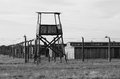 Sentry box at auschwitz birkenau concentration camp poland Royalty Free Stock Images