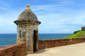 Sentry Box at Castillo San Felipe del Morro, San Juan Royalty Free Stock Photo