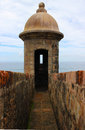 Sentry Box of a Stone Fort Old San Juan, Puerto Rico Royalty Free Stock Photo