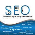 Seo Blue with Keywords Stock Image