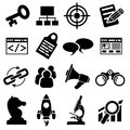 Seo business icon set Fotografia Stock