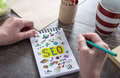 Seo concept on a notepad