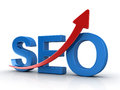 Seo Concept with Red Arrow