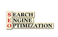 Seo conceptual searh engine optimization acronym on white Stock Image