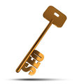 SEO gold key Royalty Free Stock Image