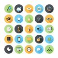Seo icons vector illustration of modern simple flat and development with long shadow design elements for mobile and web Stock Image