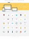 Seo icons vector illustration of modern simple and flat search engine optimization design elements for mobile and web applications Royalty Free Stock Photography