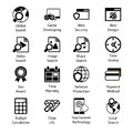 Seo icons vol Fotografia de Stock
