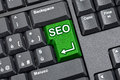 SEO Key Computer Keyboard Royalty Free Stock Photo