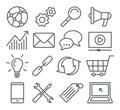Seo line icons Photographie stock libre de droits