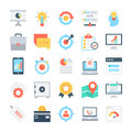 SEO and Marketing Vector Icons 4 Royalty Free Stock Photo