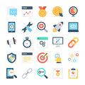 SEO and Marketing Vector Icons 6 Royalty Free Stock Photo