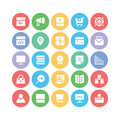 SEO and Marketing Vector icons 7 Royalty Free Stock Photo
