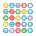 SEO and Marketing Vector Icons 5 Royalty Free Stock Photo